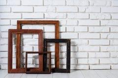 Деревянные рамки Стоковая Фотография