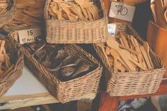 Деревянные ремесленничества kitchenware Стоковое Фото