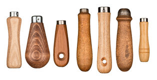 Деревянные ручки инструмента Стоковая Фотография