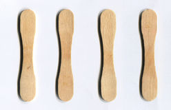 Деревянные ручки от мороженого Стоковые Фотографии RF
