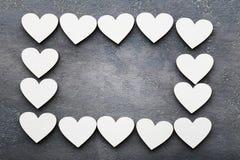 Деревянные сердца стоковое фото