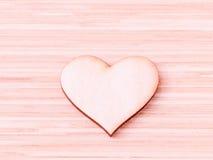 Деревянные сердца на деревянной предпосылке Стоковое Изображение RF