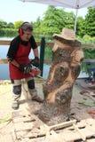Деревянные скульптуры в реальном маштабе времени с искусством Settala ` Prem - Mi - Италия Стоковое Фото