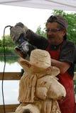 Деревянные скульптуры в реальном маштабе времени с искусством Settala ` Prem - Mi - Италия Стоковое Изображение RF