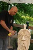 Деревянные скульптуры в реальном маштабе времени с искусством Settala ` Prem - Mi - Италия Стоковая Фотография RF