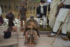 Деревянные статуи сделанные вручную Стоковая Фотография