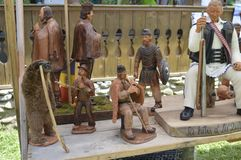 Деревянные статуи Стоковые Фотографии RF