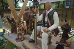 Деревянные статуи handmade Стоковая Фотография RF