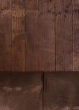 Деревянные стена и пол стоковые изображения rf