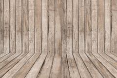 Деревянные стена и пол Стоковая Фотография RF