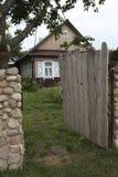 Деревянные стробы дома сельской местности Стоковая Фотография