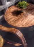 Деревянные стул и таблица Стоковое Фото