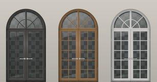 Деревянные сдобренные двери иллюстрация вектора