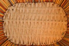 Деревянные текстура и предпосылка корзины weave Стоковые Изображения RF