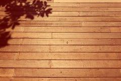 Деревянные текстура пола и shodow дерева Стоковое Изображение RF