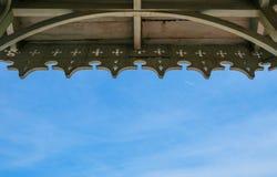 Деревянные терраса и небо Стоковое Фото