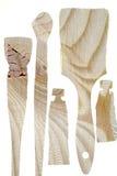 Деревянные трубки и щетки краски Стоковые Фото