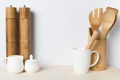 Деревянные утвари кухни Стоковые Фото