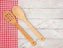 Деревянные утвари кухни Стоковая Фотография