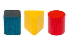 Деревянные формы весь цвет Стоковое фото RF