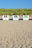 Деревянные хаты пляжа стоковые фото