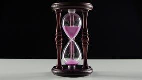 Деревянные часы Двигатель песка в часах черный видеоматериал