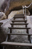 Деревянные шаги в тайское Стоковое Фото