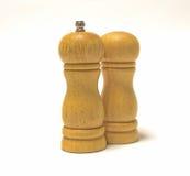 Деревянные шейкеры соли Стоковое Изображение