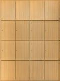 Деревянные шкафчики Стоковые Изображения