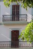 Деревянные штарки и балкон Стоковые Фотографии RF
