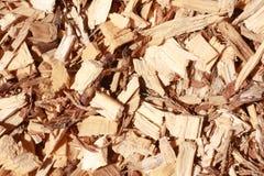 деревянные щепки древесины shavings mulch расшивы Стоковое Фото
