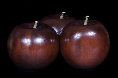 Деревянные яблоки Стоковые Фотографии RF