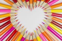 Деревянные crayons как изображение предпосылки Стоковые Изображения