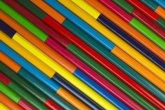 Деревянные crayons как изображение предпосылки Стоковая Фотография