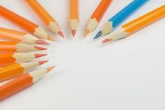 Деревянные crayons как изображение предпосылки Стоковое Изображение RF