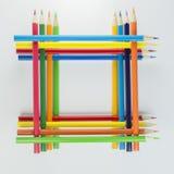 Деревянные crayons как изображение предпосылки Стоковые Фото