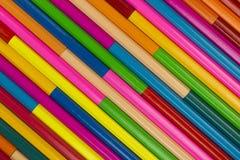 Деревянные crayons как изображение предпосылки Стоковое Изображение