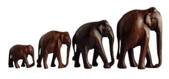 Деревянные figurines слона Стоковая Фотография RF