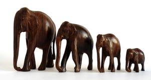 Деревянные figurines слона Стоковое Фото