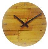 Деревянные Handmade изолированные часы Стоковые Фото