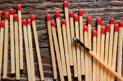 Деревянные matchsticks Стоковые Изображения RF