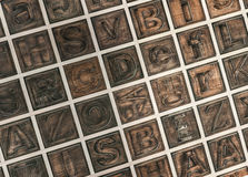 Деревянный алфавит Стоковая Фотография