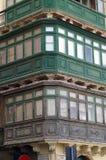 Деревянный балкон на угле дома Стоковая Фотография RF