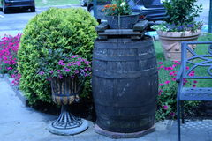 Деревянный бочонок вина Стоковая Фотография