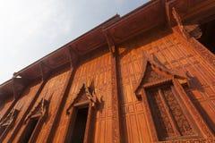 Деревянный буддийский висок Стоковые Фотографии RF