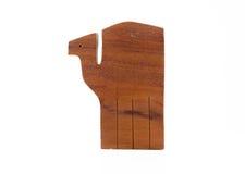 Деревянный верблюд рождества на белизне Стоковое Фото