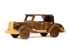 Деревянный винтажный автомобиль игрушки Стоковая Фотография