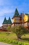 Деревянный дворец царя Alexey Mikhailovich в Kolomenskoe - Mosco Стоковые Фотографии RF