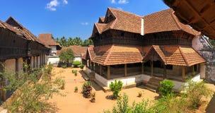 Деревянный дворец Padmanabhapuram maharaja в Trivandrum стоковые изображения rf