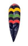 Деревянный высекаенный африканский лицевой щиток гермошлема Стоковое Изображение
